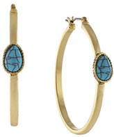 Jessica Simpson Turquoise Hoop Earrings