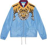 Gucci Nylon bomber with tiger print