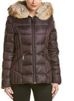 Dawn Levy Women's Niki Short Down Coat With Hood Real Coyote Fur