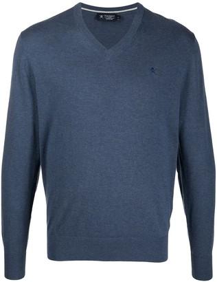 Hackett V-neck jumper