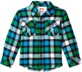 Appaman Flannel Shirt (Baby) - Online Green Plaid - 12-18 Months
