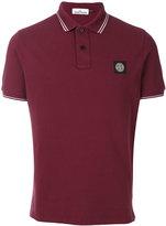 Stone Island logo patch polo shirt - men - Cotton/Spandex/Elastane - S