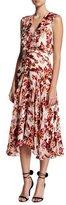 Saloni Rita Sleeveless Midi Dress, Multiprint