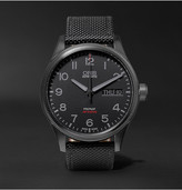 Oris Air Racing Edition V 45mm Stainless Steel And Leather Watch - Black