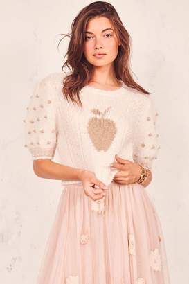 LoveShackFancy Cyrielle Cropped Pullover
