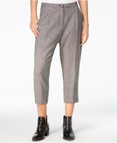 Armani Exchange Cropped Wide-Leg Trousers