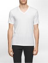 Calvin Klein Platinum Slim Fit Pima Cotton V-Neck T-Shirt