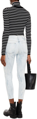 Rag & Bone Cate Cropped Bleached Mid-rise Skinny Jeans