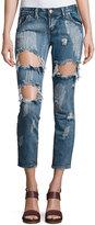 One Teaspoon Free Birds Short-Rise Capri Jeans, Cobain
