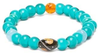 Musa By Bobbie - Aquamarine, Turquoise & Amber Bead Bracelet - Blue