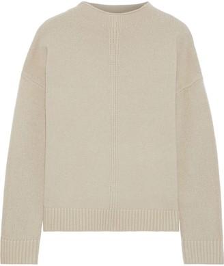 Iris & Ink Dandelion Pointelle-trimmed Merino Wool-blend Sweater