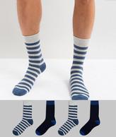 Jack and Jones Socks 4 Pack With Stripe