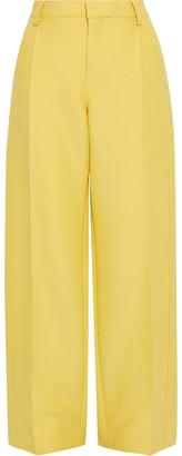 Lanvin Wool And Silk-blend Wide-leg Pants