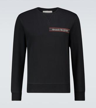 Alexander McQueen Logo tape crewneck sweatshirt