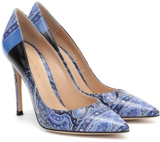 Etro Exclusive to Mytheresa x Gianvito Rossi Gianvito 105 paisley pumps