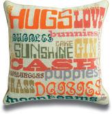 Jonathan Adler Happy Needlepoint Throw Pillow