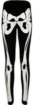Fashion essentials- Womens Skeleton Print Halloween Bodysuit Midi Legging (8-10, )