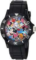 Disney Men's 'Mickey Mouse' Quartz Plastic and Rubber Casual Watch, Color: (Model: WDS000364)