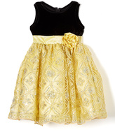 Yellow Sequin A-Line Dress - Infant Toddler & Girls