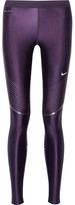 Nike Power Speed Stretch-jersey Leggings - Dark purple
