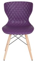 Mathias Contemporary Dining Chair Wrought Studio Color: Purple