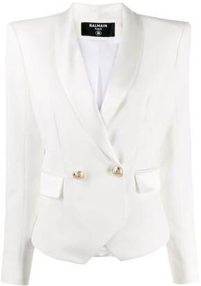 Balmain double-breasted tuxedo style blazer