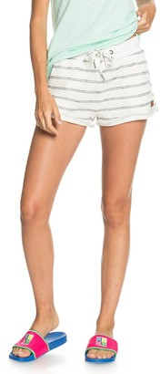 Roxy Perfect Wave Stripe Cotton Blend Shorts