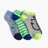 J.Crew Boys' fish ankle socks three-pack