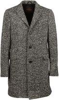 Tod's Grey Melange Herringbone Coat