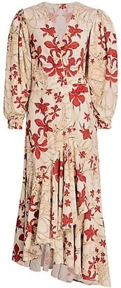 Johanna Ortiz Peaceful Easy Feelings Wrap Midi Dress