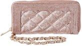 Charlotte Russe Velvet Quilted Wristlet Wallet