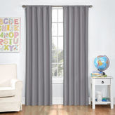 Eclipse Kids' Kendall Rod-Pocket Blackout Curtain Panel