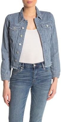 Blanknyc Denim Railroad Stripe Denim Trucker Jacket