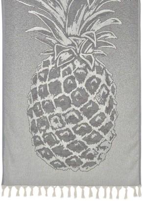 Slate & Salt Pineapple Gray Turkish Beach Towel
