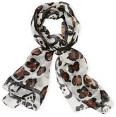 Vince Camuto Classic Spots Silk Scarf
