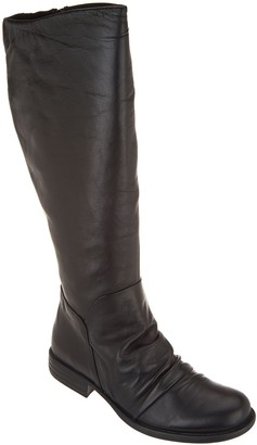 Miz Mooz Leather Ruched Tall Shaft Boots - Lisbon