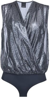 Pinko Animal Texture Wrap Bodysuit