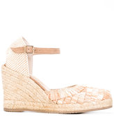 Paloma Barceló fringed wedge espadrilles - women - Raffia/Leather/rubber - 36