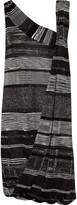 Missoni Draped metallic crochet-knit dress