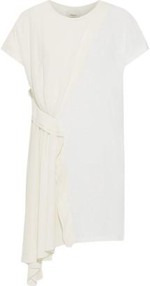 3.1 Phillip Lim Asymmetric Crepe-paneled Cotton-jersey Mini Dress