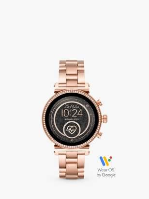 Michael Kors Women's Crystal Touch Screen Bracelet Strap Smartwatch