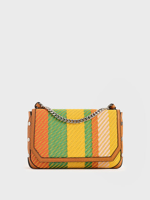 Charles & Keith Printed Chain Link Shoulder Bag