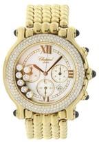 Chopard Happy Sport 18K Yellow Gold With Floating Diamond Bezel 38mm Womens Watch