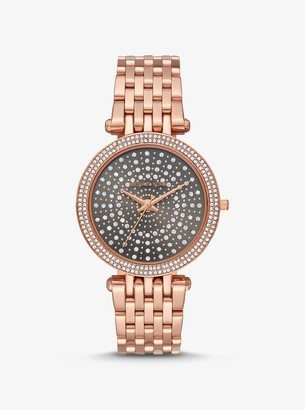 Michael Kors Darci Celestial Pave Rose Gold-Tone Watch