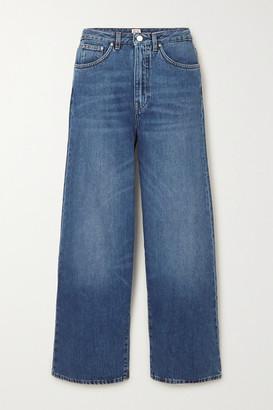 Totême Flair High-rise Wide-leg Jeans - Mid denim