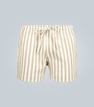 COMMAS Linen striped shorts