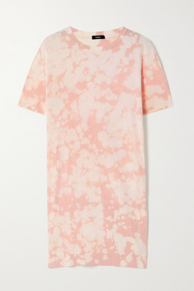 Bassike Motley Tie-dyed Organic Cotton-jersey Mini Dress - Pink