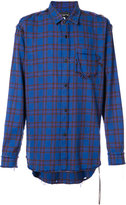 Mastermind Japan distressed plaid shirt