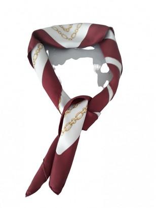Cartier Burgundy Silk Scarves