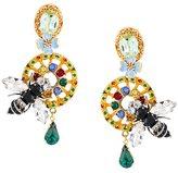 Dolce & Gabbana drop bee clip-on earrings